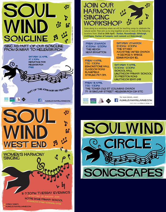 Posters and flyers for SoulWind