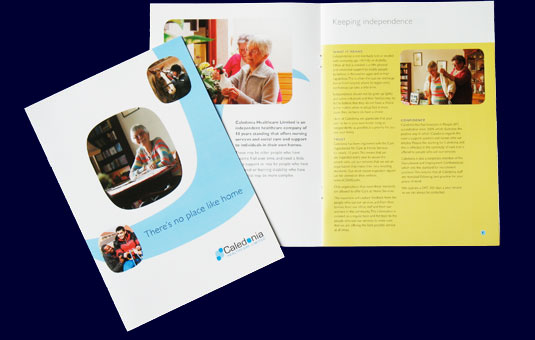 Brochure for Caledonian Healthcare by Indigo Design, Glasgow